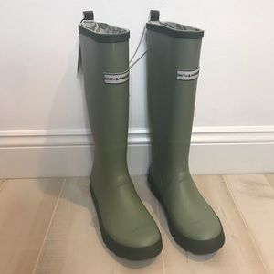 NEW Smith & Hawken Garden Rain Boots Green 7, 8